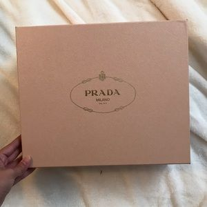 Prada pink gold big shoe box with dust bag!